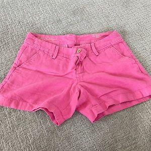 Lilly Pulitzer pink linen shorts calla short